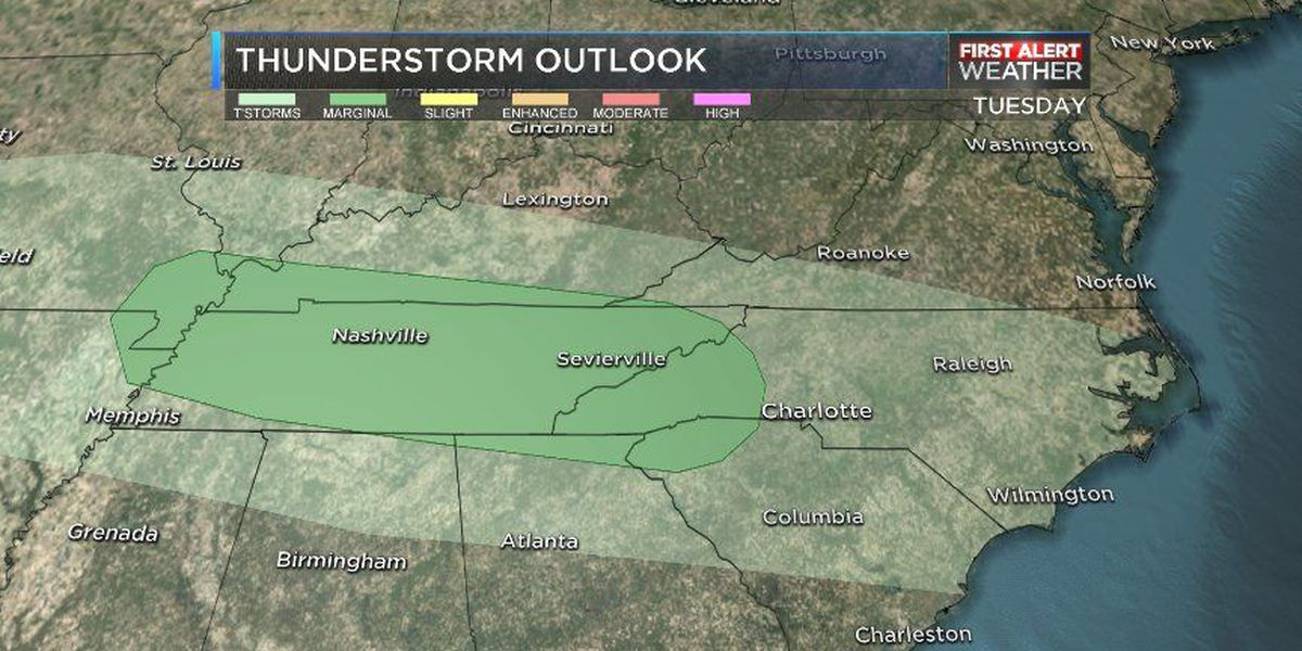 First Alert: Cold front to bring disruptive weather Tuesday