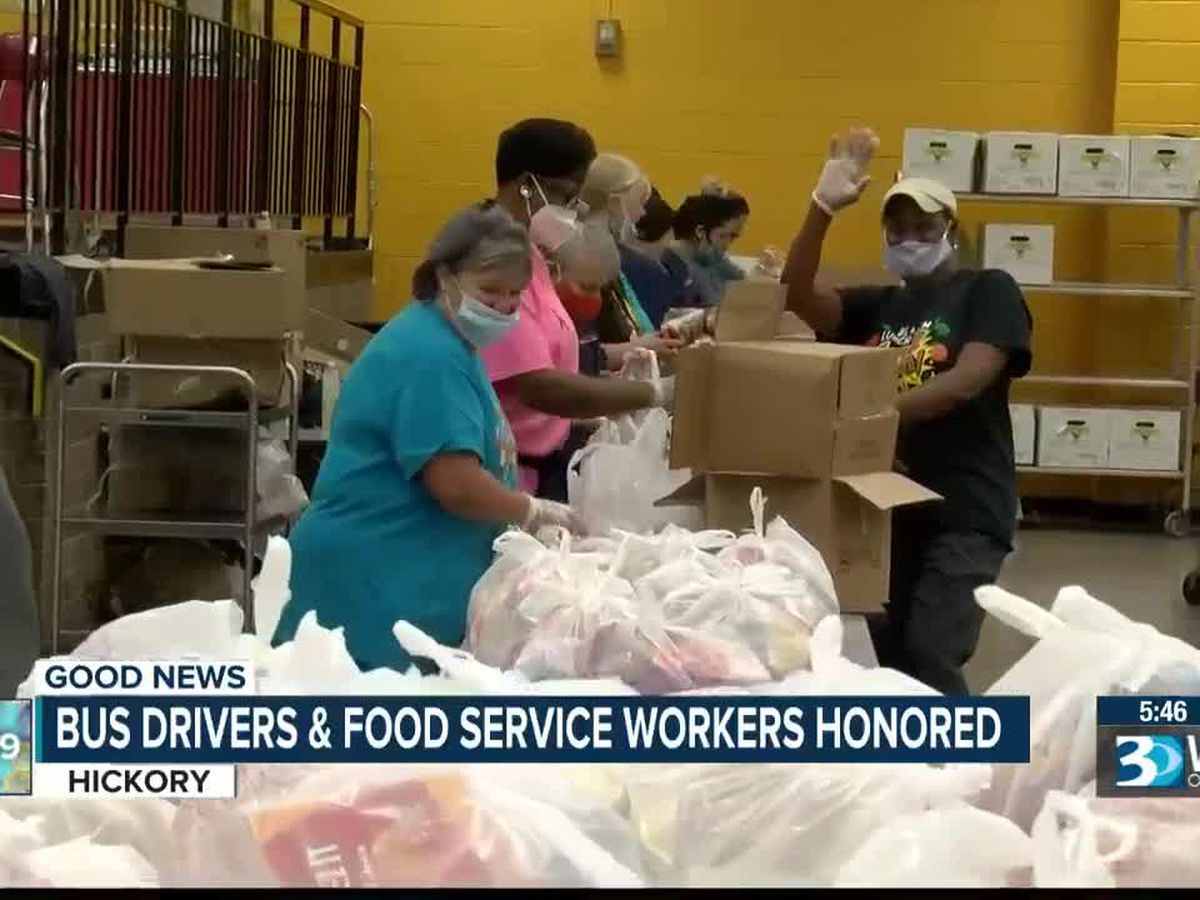 School food workers and bus drivers honored in Hickory