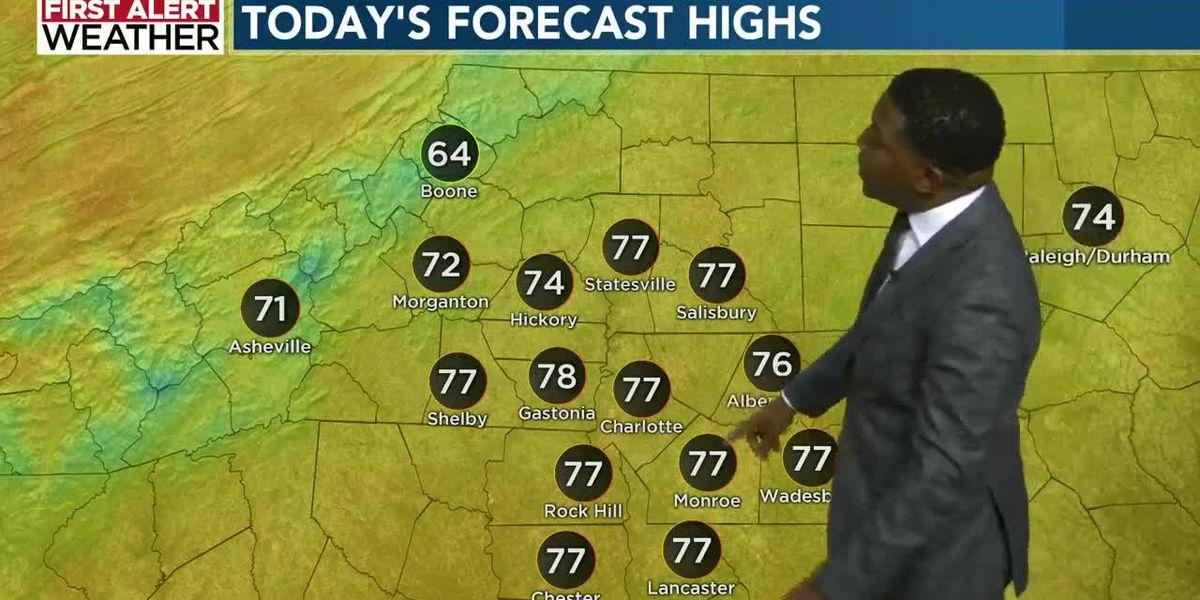 High pressure returns keeping rain chances low, temperatures mild