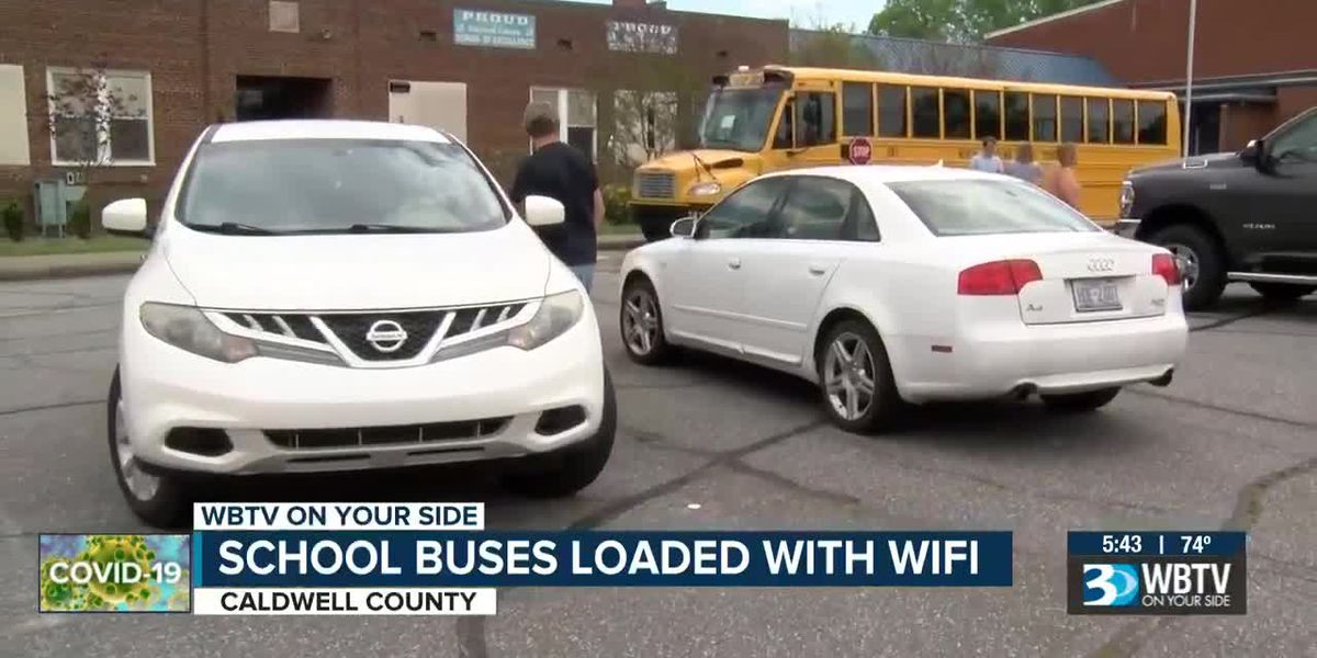 School buses are now mobile hotspots for internet in Caldwell County