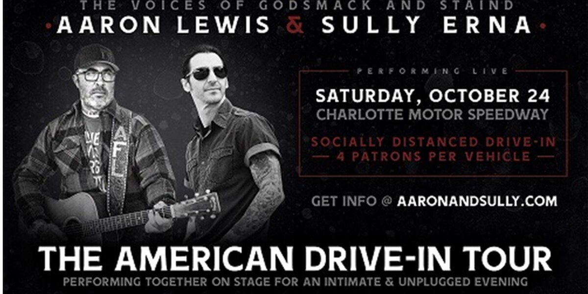 Charlotte Motor Speedway hosting Aaron Lewis & Sully Erna for live show