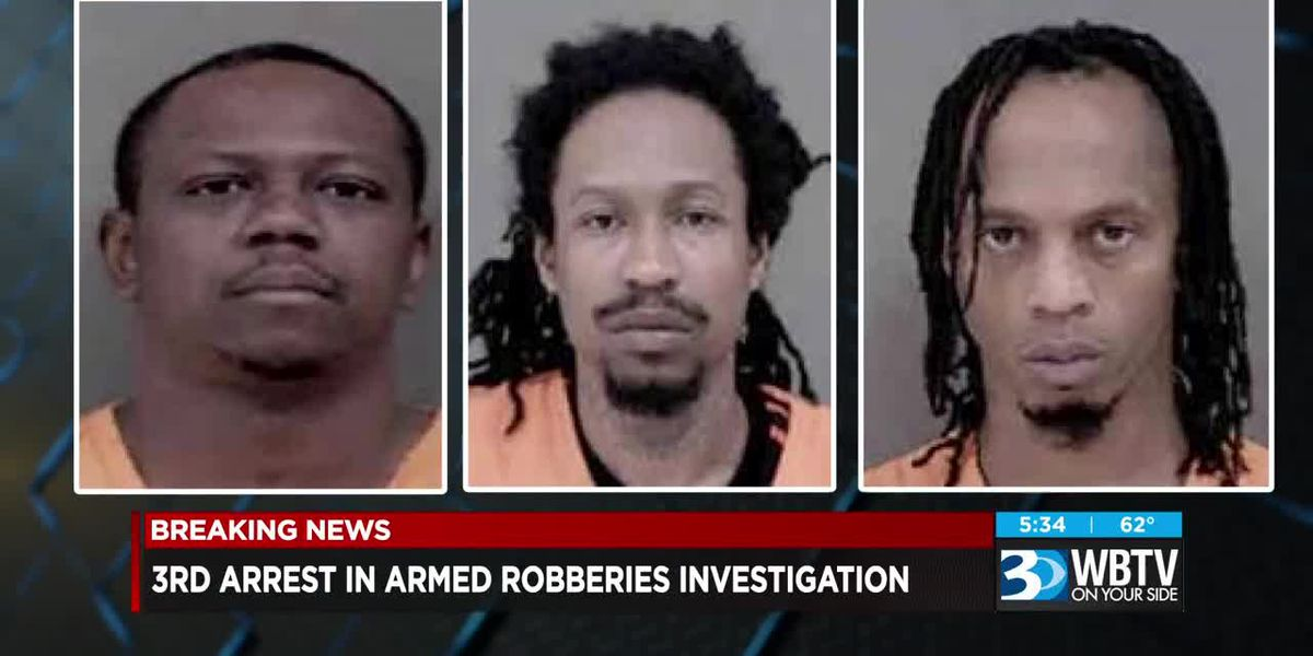 3rd arrest made in armed robberies investigation