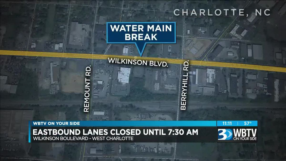 Stretch of west Charlotte road closed for 10 hours due to