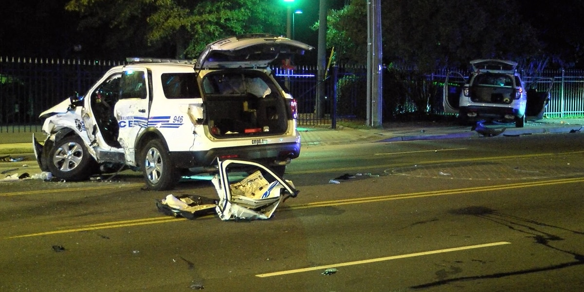 4 officers injured in serious crash while responding to shooting in north Charlotte