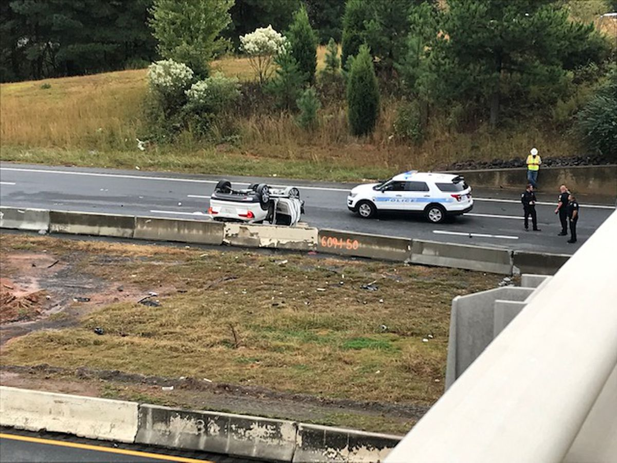One killed, two others injured in crash on I-485 in south Charlotte