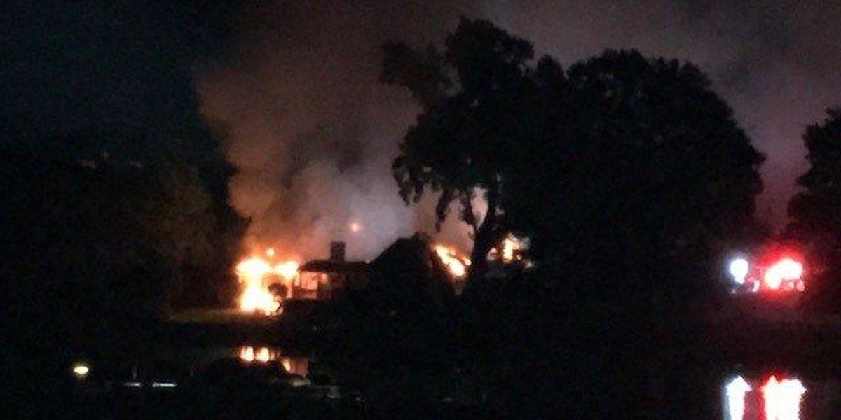 Dozens of firefighters battling blaze at Mooresville home