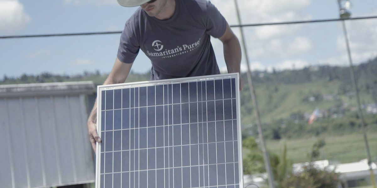 Nine months after Maria, Samaritan's Purse working to power Puerto Rican homes with solar energy