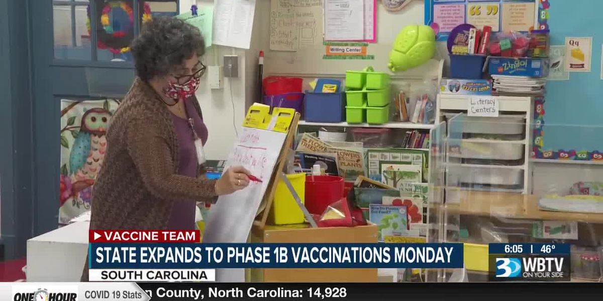 S.C. expands to Phase 1b vaccinations on Monday