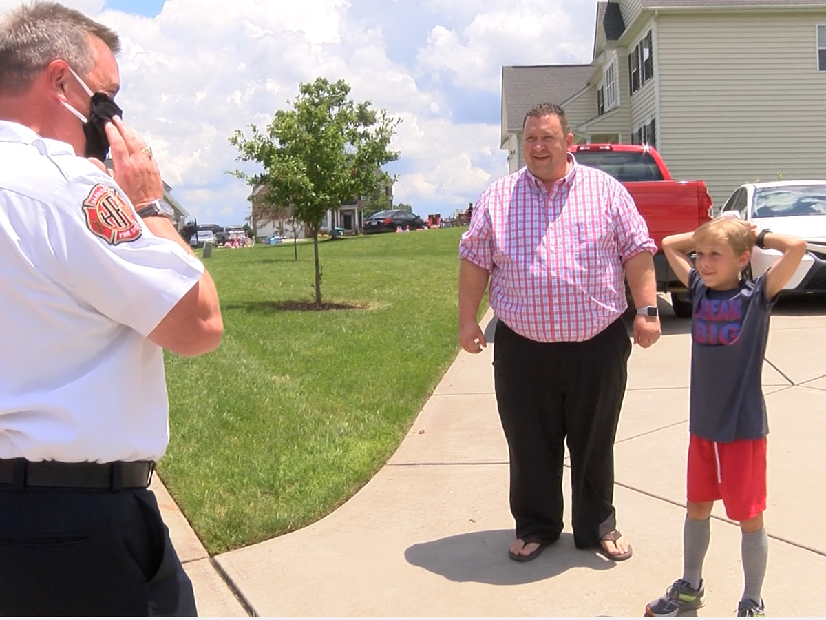 Firefighters surprise Harrisburg boy for his kindness