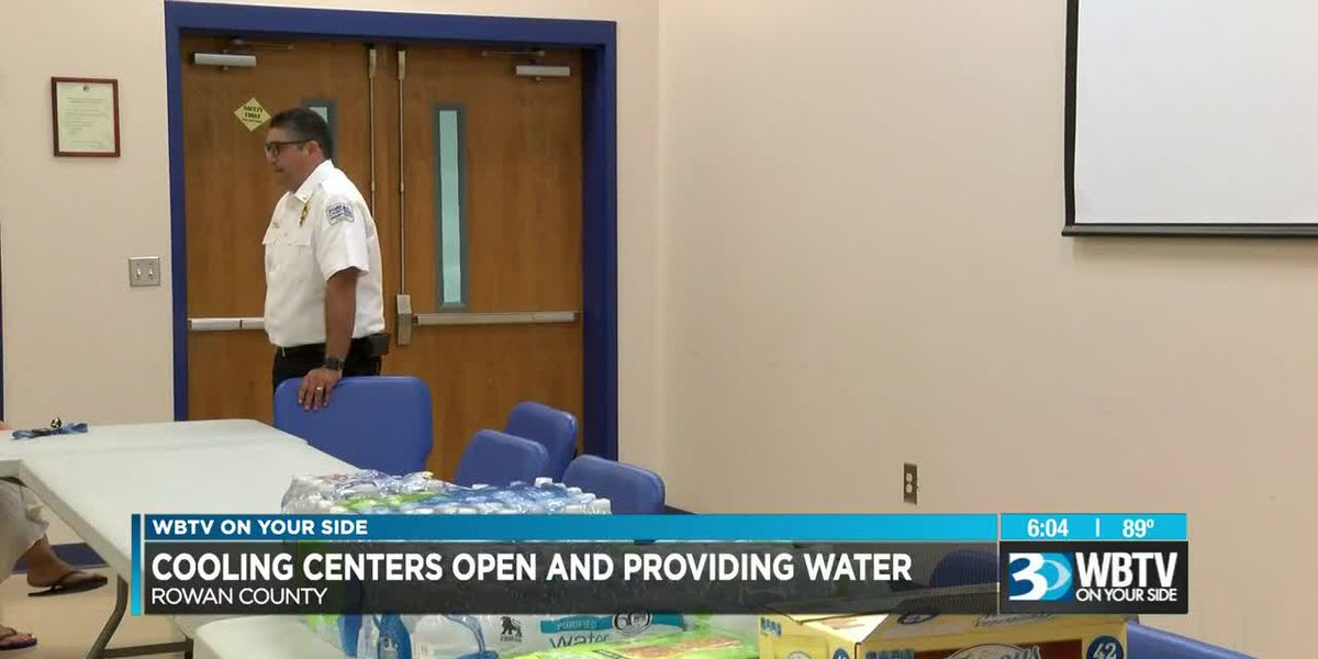 Cooling centers open and providing water