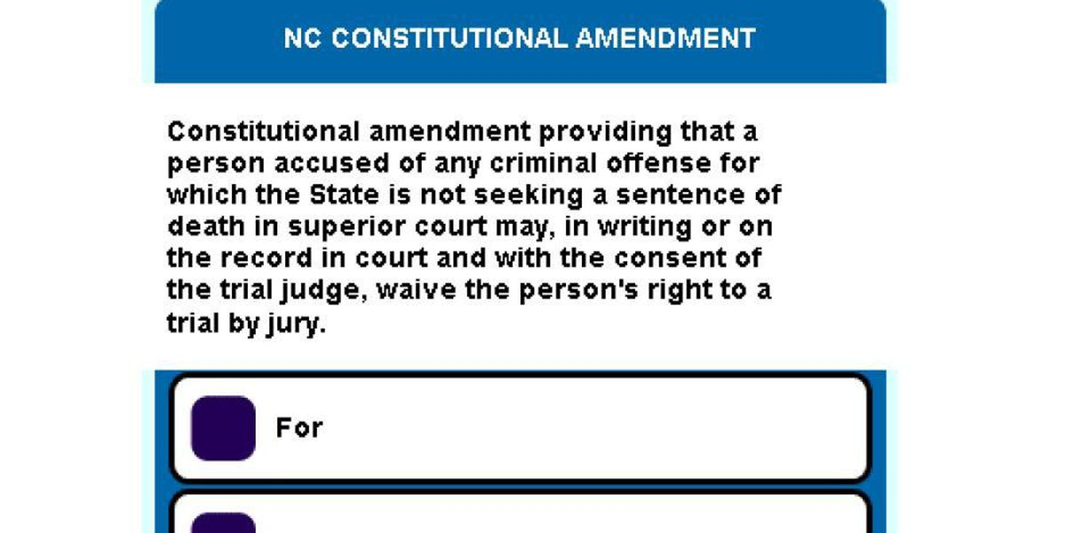 Voters decide whether to change felony trial law in NC