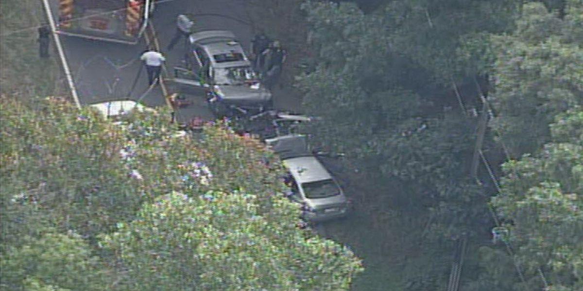 Four injured in crash near University area of northeast Charlotte