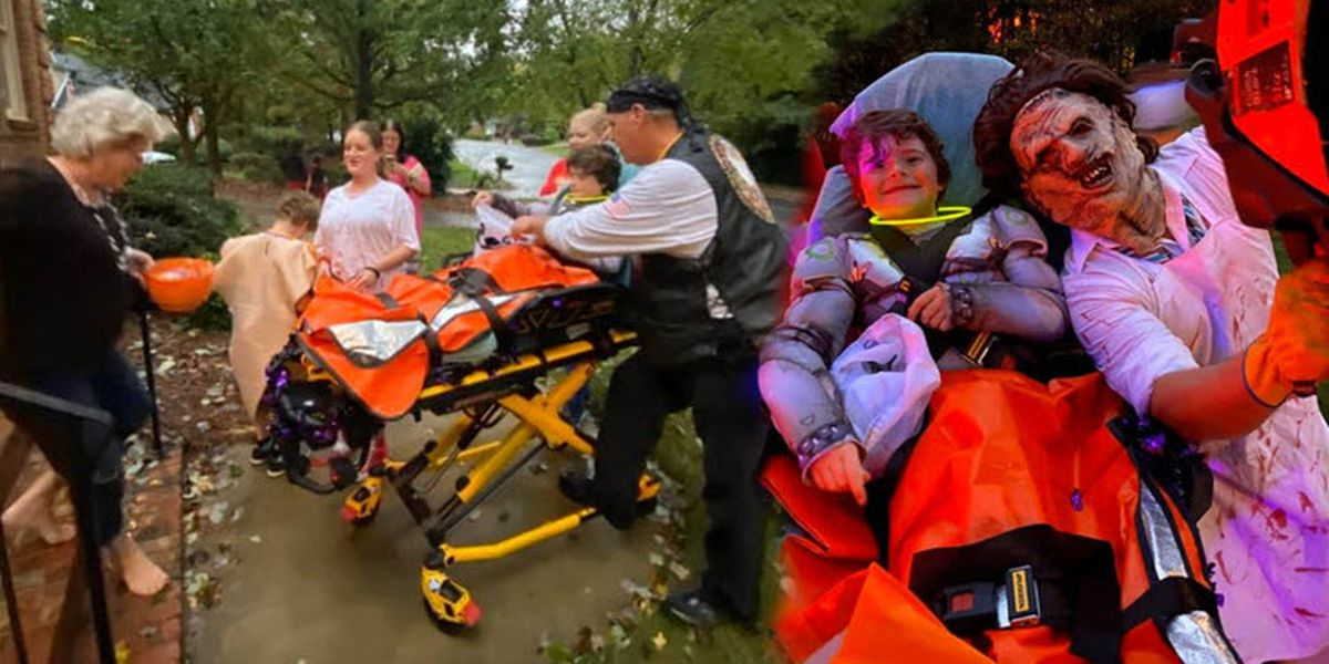 Kids with special needs go trick-or-treating thanks to Gaston EMS