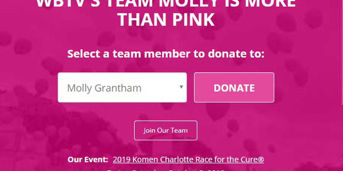 Join #TeamMolly on mission to find cure for breast cancer