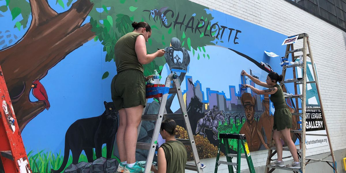 Marine mural coming 'to life' in NoDa
