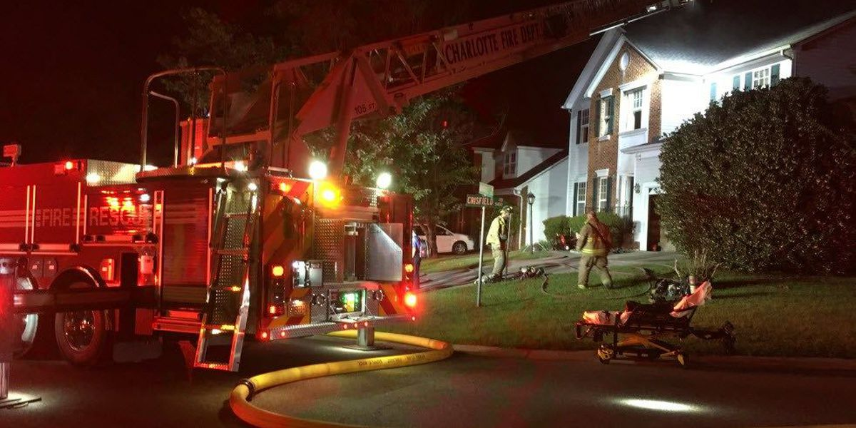 'Unattended cooking' blamed for north Charlotte house fire
