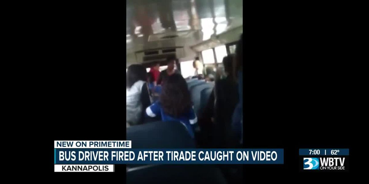 Kannapolis school bus driver fired for yelling at students