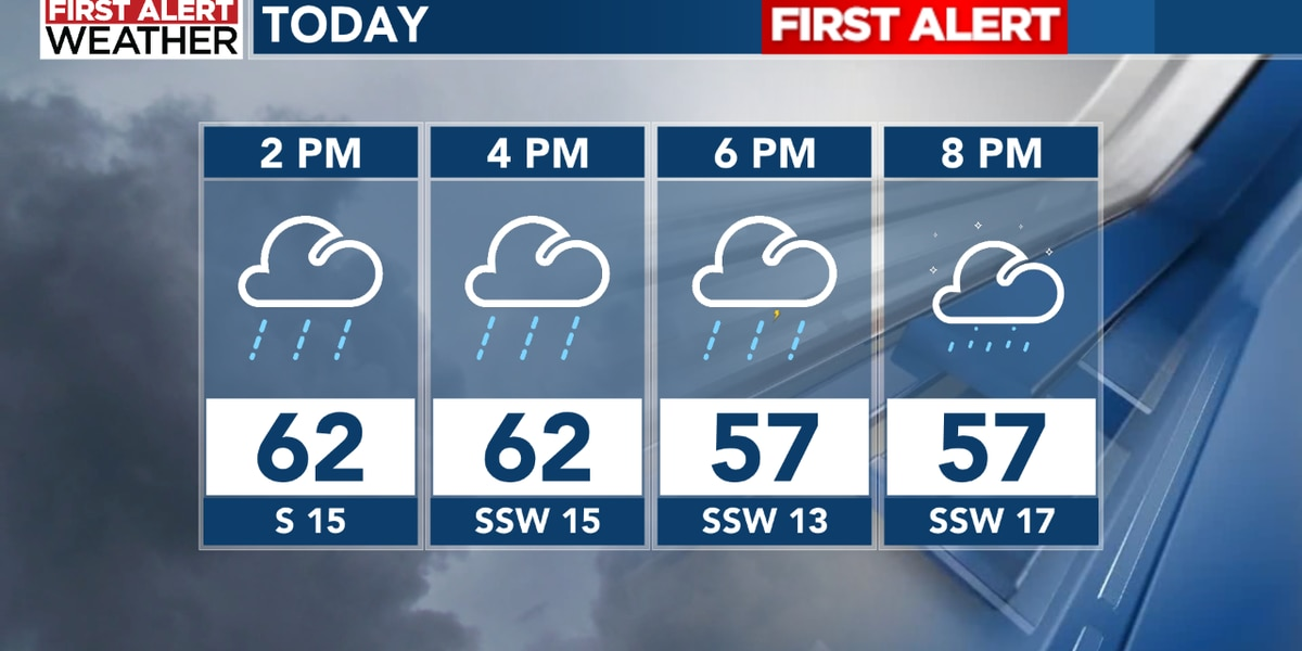 MIDDAY Forecast: Isolated thunderstorms and snow showers hit Thursday afternoon, early evening
