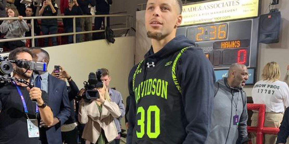 Extremely rare Steph Curry 'blackout' jersey stolen from Davidson College