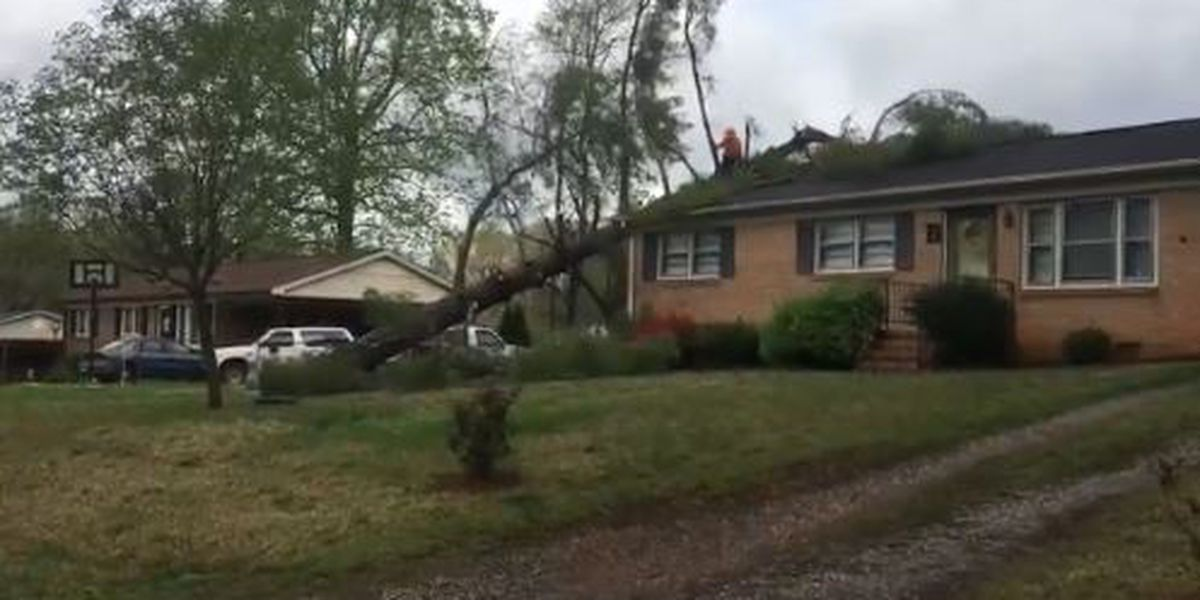 Cleanup underway after storms hit Gaston County Monday
