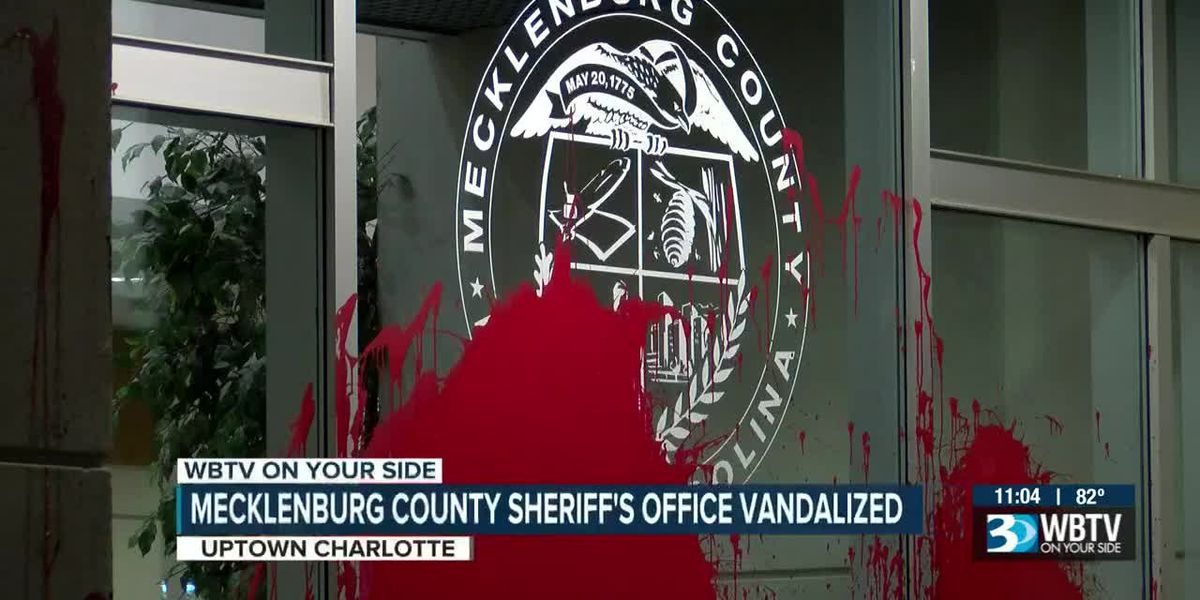 Mecklenburg County Sheriff's Office appears vandalized