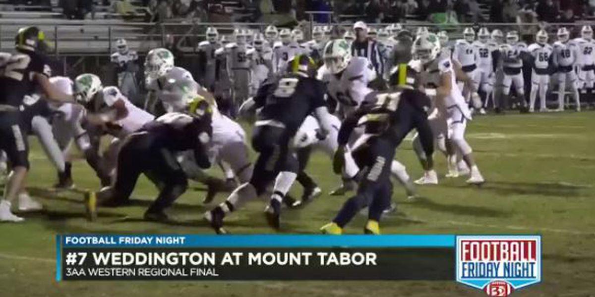 Weddington beats Mount Tabor to win the 3AA Western Regional Final
