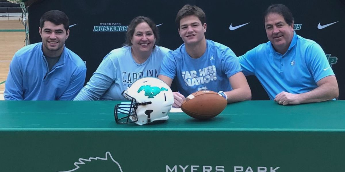 Myers Park QB Drake Maye signs National Letter of Intent, talks about missing final high school season