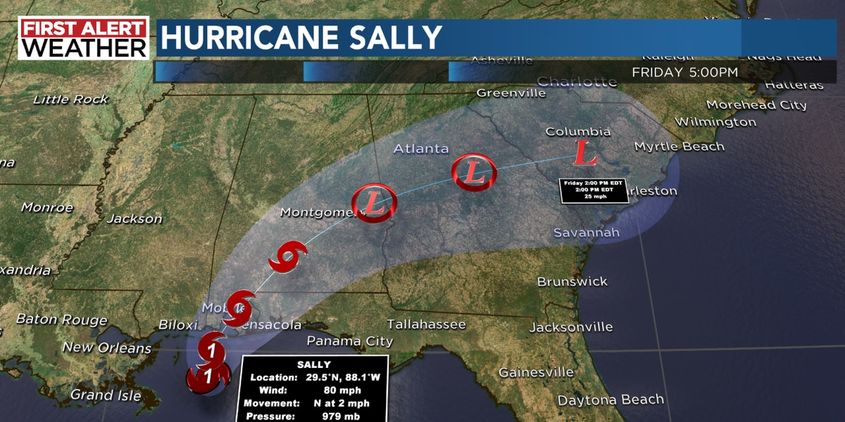 Hurricane Sally could bring life-threatening flooding to the Gulf Coast