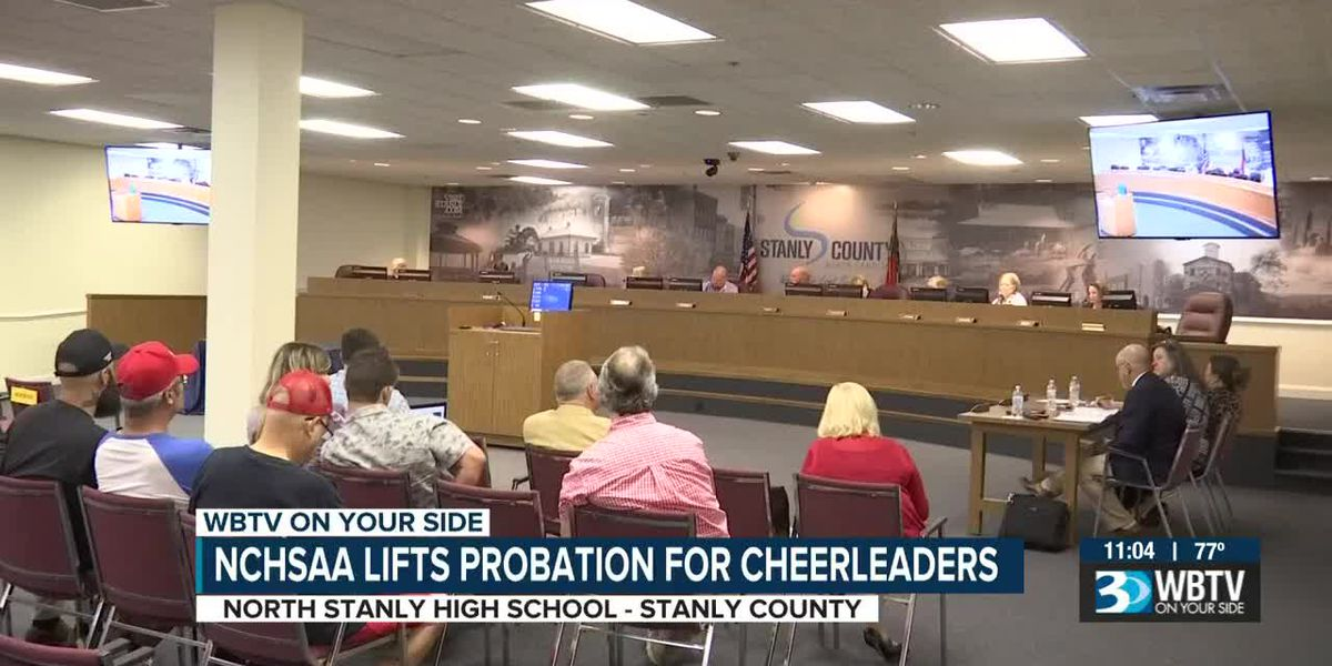 Probation to be lifted for NC high school cheerleaders who held Trump banner during football game