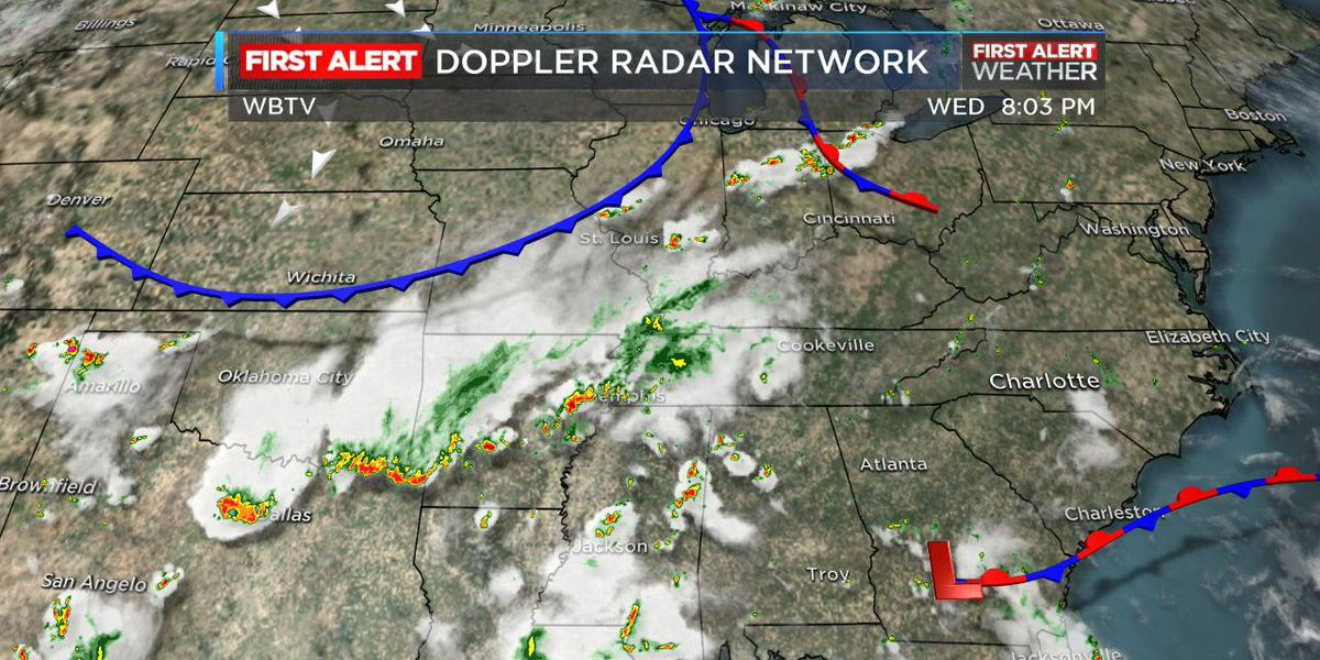 Cold front approaches, storms possible Thursday