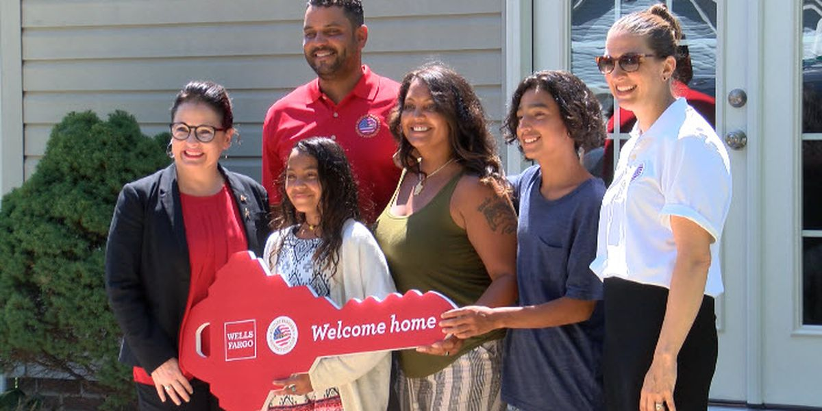 Combat-Wounded Veteran is given mortgage free home for his family