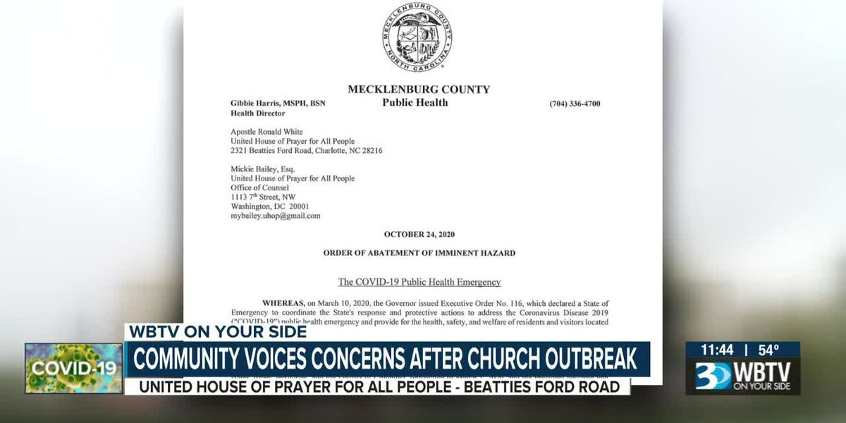 In-person service not held day after officials issue abatement order for Charlotte church