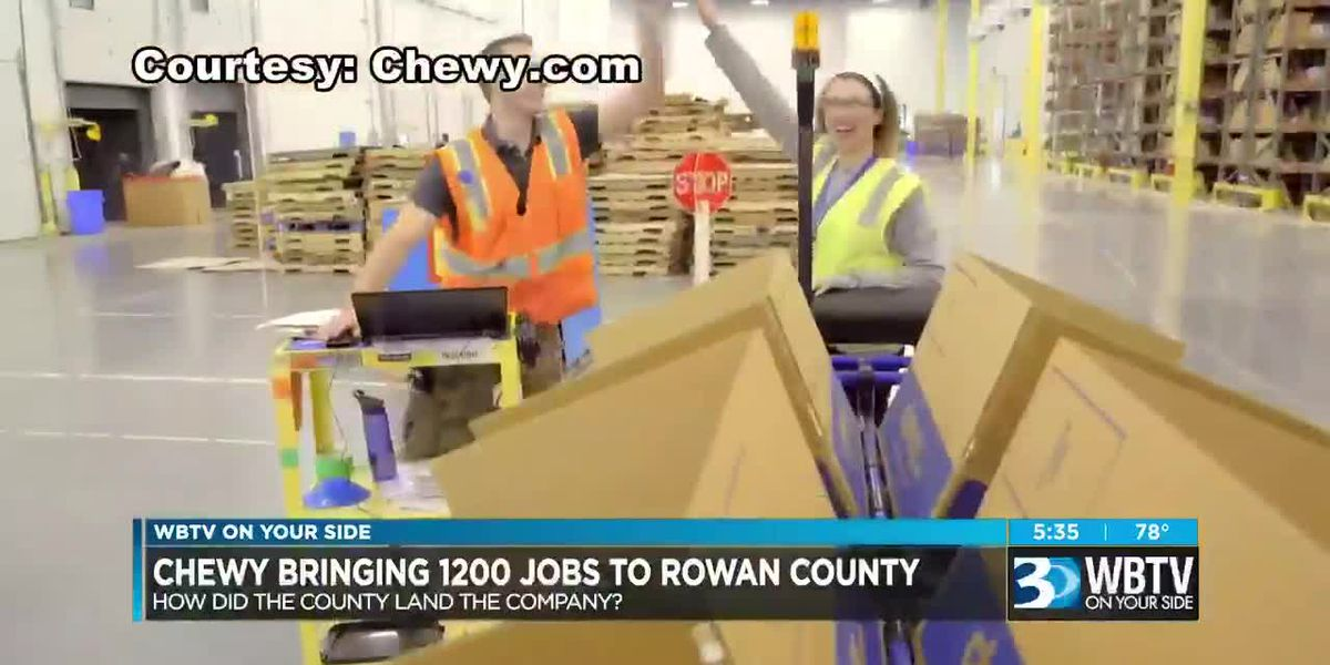 Chewy bringing 1,200 jobs to Rowan County