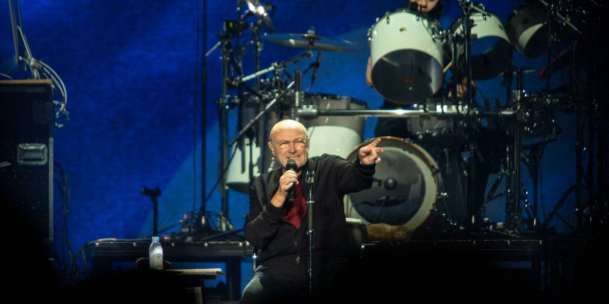 Phil Collins falls down, gets up, continues giving Charlotte the best show of 2019