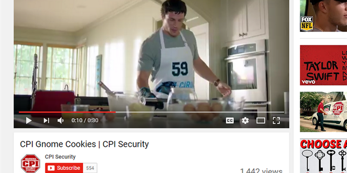 Panthers Kuechly, McCaffrey team up for a cookie baking commercial