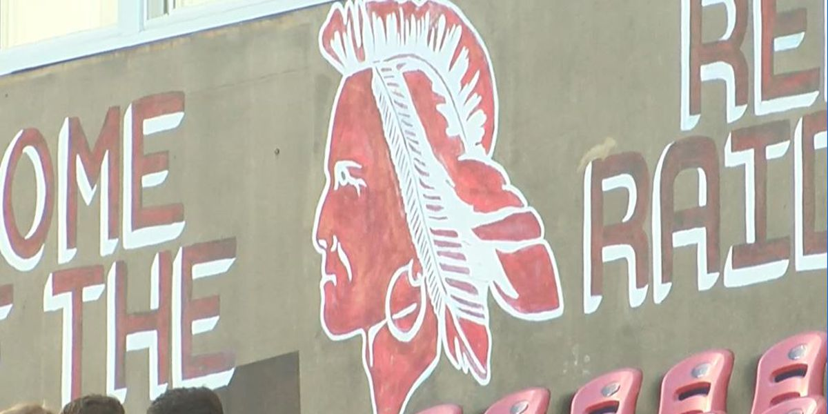Protest at South Point High School over removal of mascot