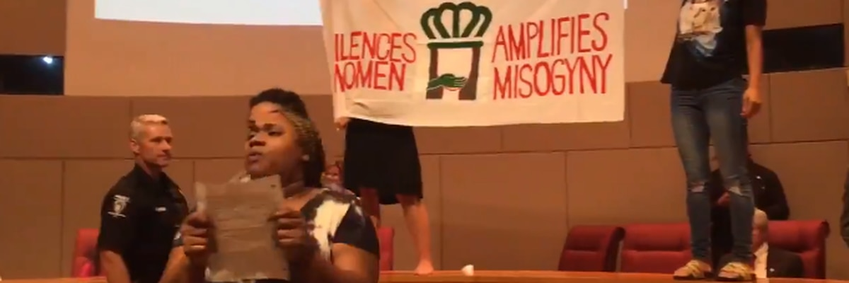 Protestors arrested after disrupting Charlotte City Council meeting