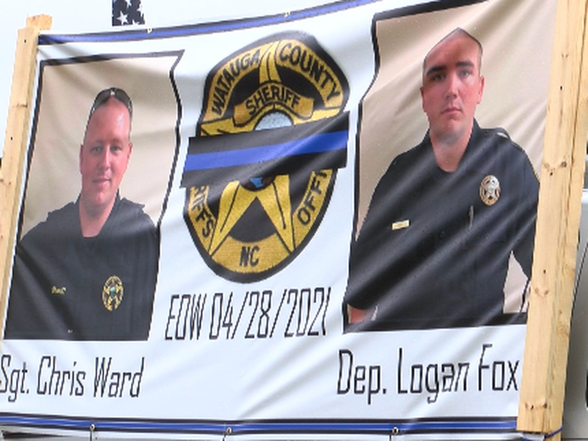 Watauga County, town of Boone bedecked in blue to show support for fallen deputies