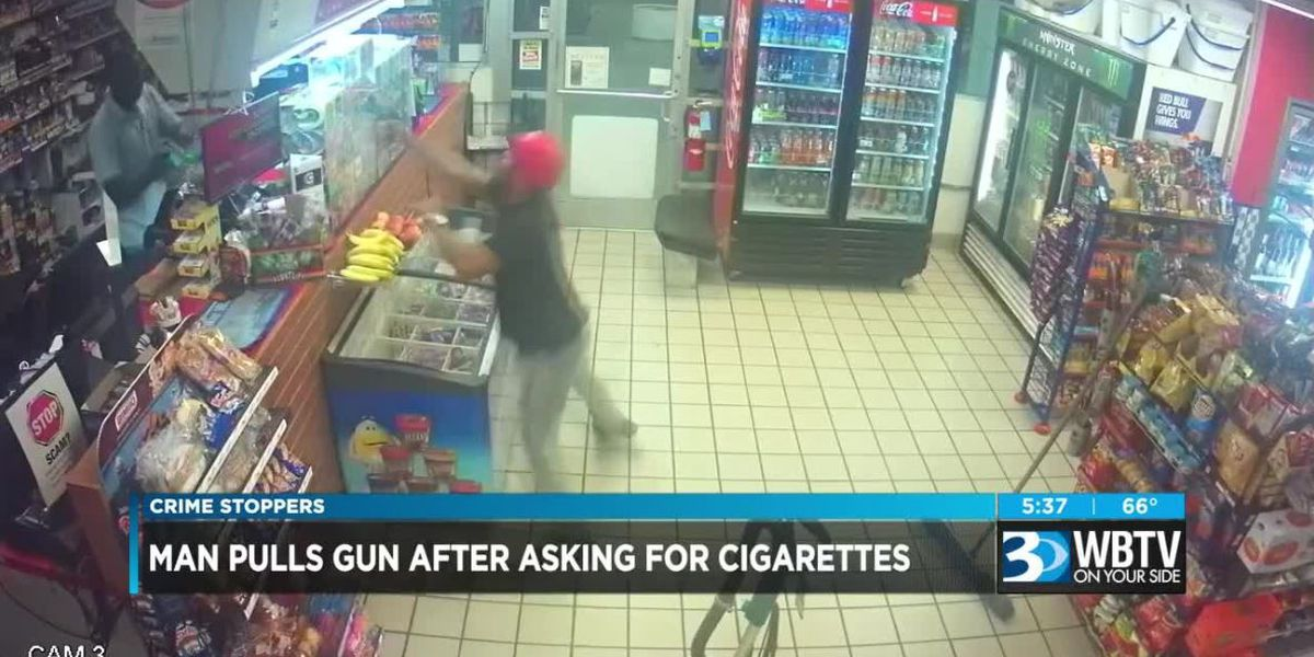 Crime Stoppers: Nervous crook steals hundreds of cigarettes from gas station at gunpoint