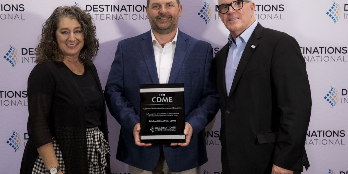 Cabarrus County CVB's Michael Bonoffski earns CDME from Destinations International
