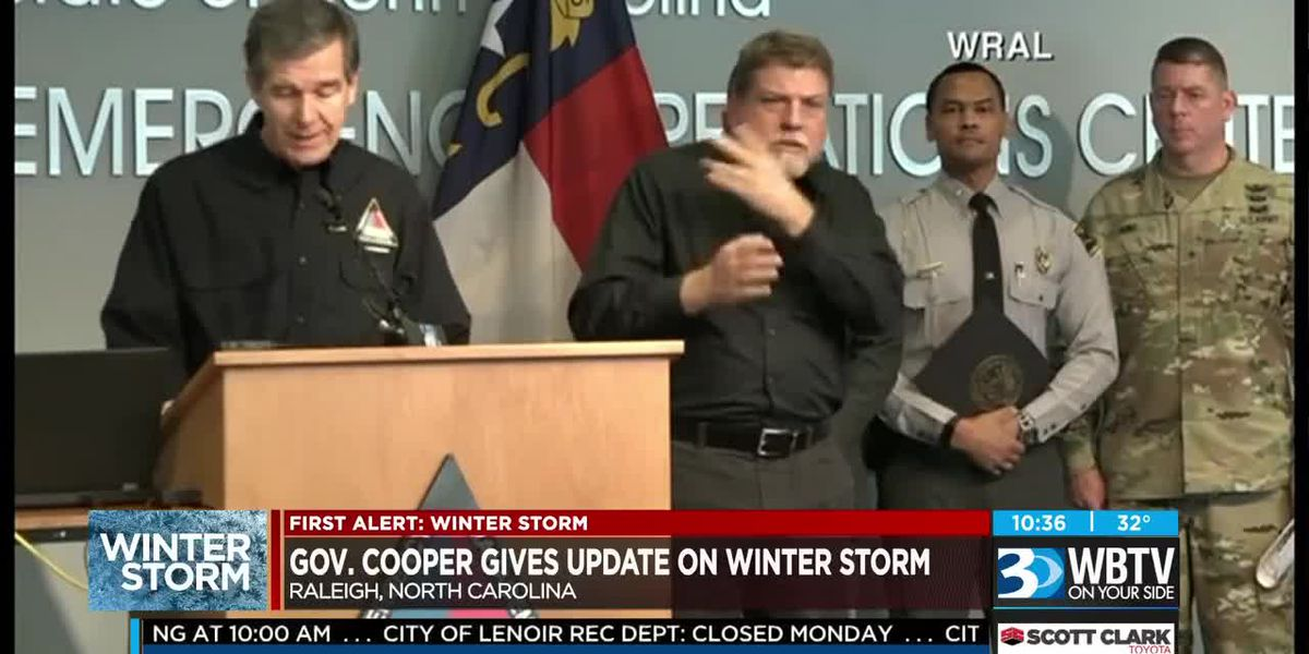 Gov. Cooper provides winter storm update