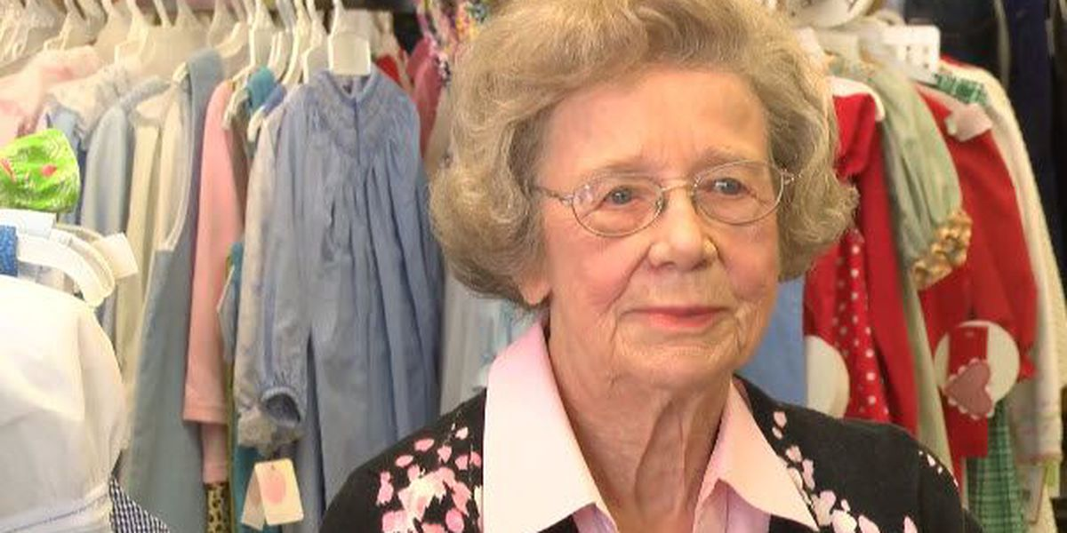 Her age is sworn to secrecy, but she's owned the same clothing store for 65 years