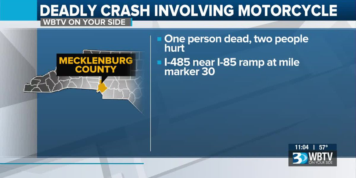 One dead, two injured in wreck involving motorcycle on I-485