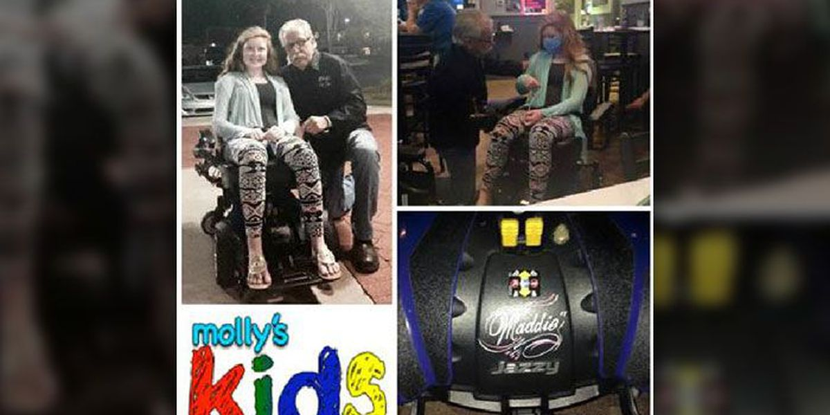 One #MollysKids helping another. Braylon Beam and Maddie Holliday