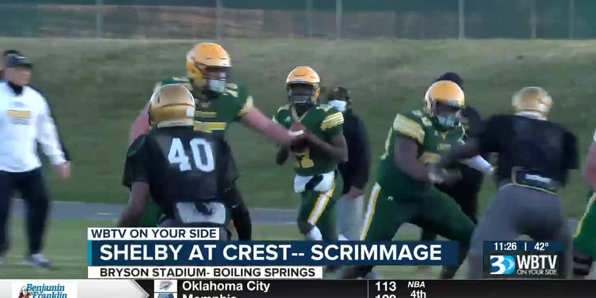 Shelby and Crest scrimmage in Boiling Springs