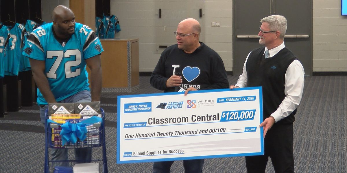 Carolina Panthers donate $120,000 worth of school supplies to CMS elementary classrooms