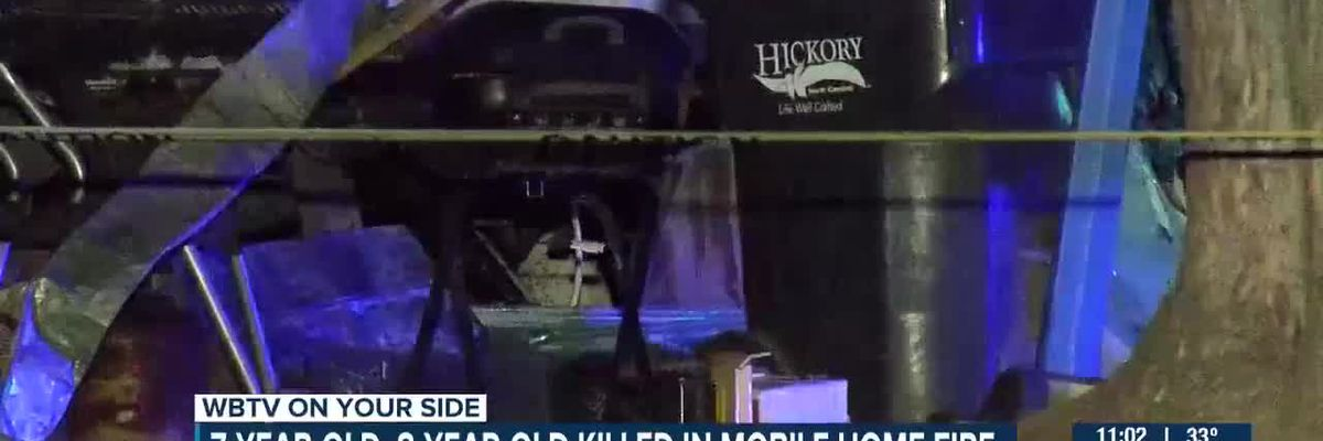 Two children, ages 7 and 8, found dead after Hickory mobile home fire