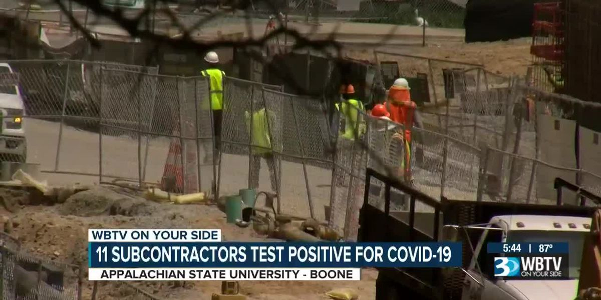 36 subcontractor workers at an App State construction site test positive for COVID-19