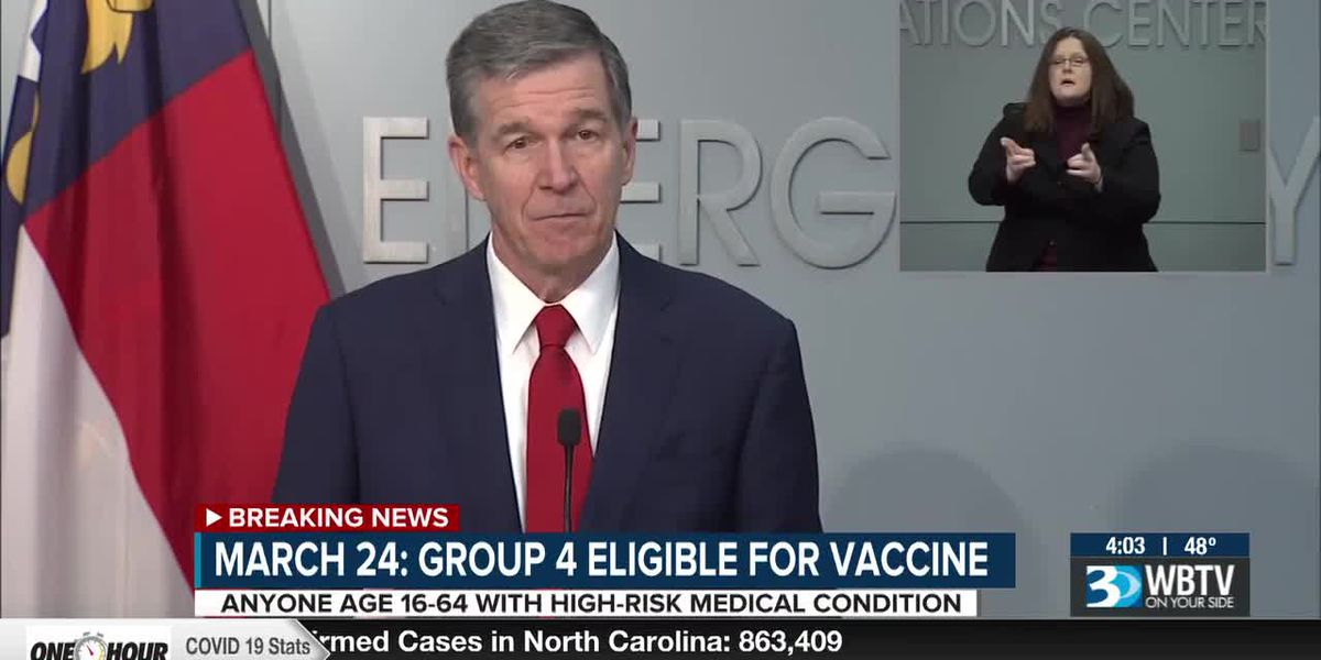 Gov. Cooper accelerates dates for next groups to receive COVID-19 vaccine in N.C.