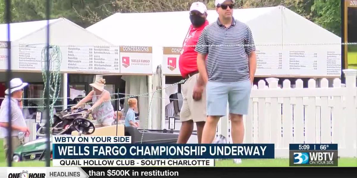 Rain forces players off the course at Wells Fargo Championship